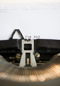 Typewriter The End
