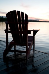 Dock Empty Chair