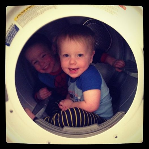 Boys in Dryer