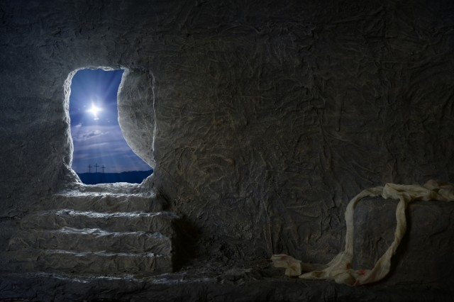 Empty Tomb of Jesus at Night